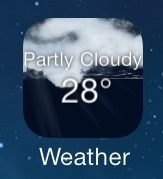 Get Live Weather info on Weather Icon on iOS 7