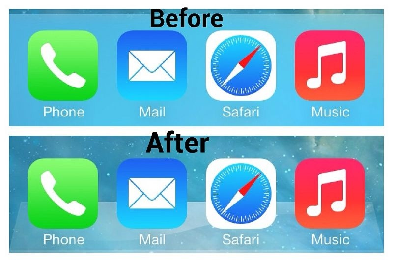 How to Bring back Classic Old Dock in iOS 7