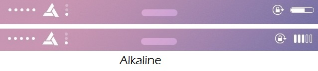 Alkaline: A new WinterBoard for Theming battery indicator in iOS 7