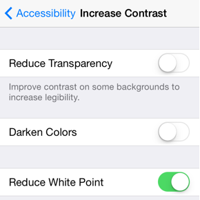 reduce which changes in ios 7.1