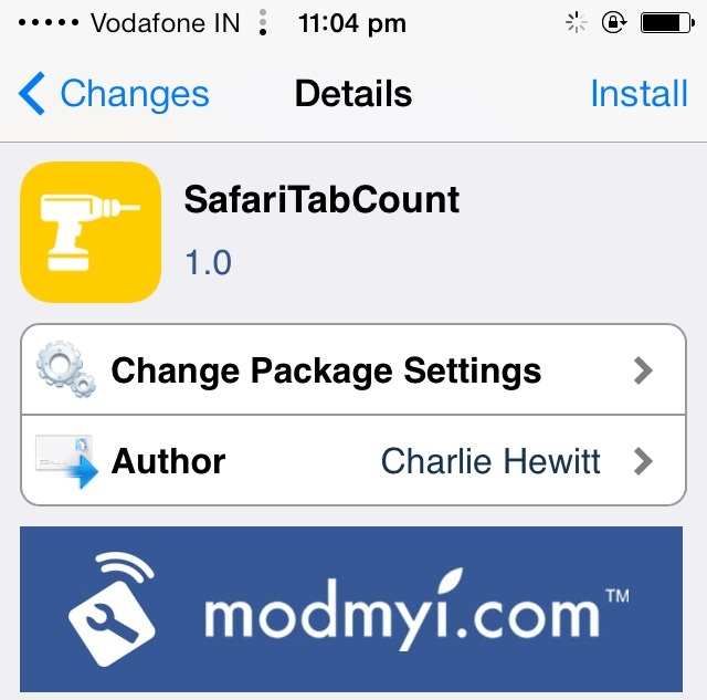 Enable Tab Count on Mobile Safari on iPhone