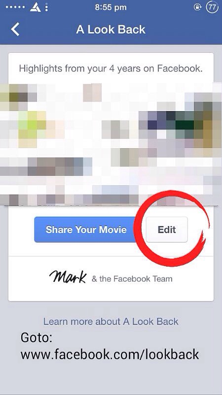 How to change Photos and Posts in 'Facebook LookBack' Video