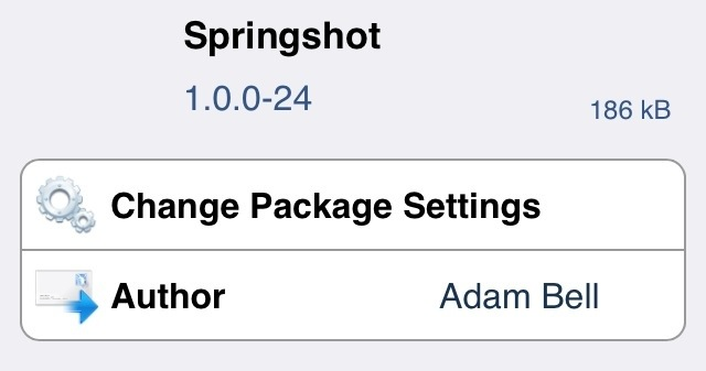 SpringShot: let's you kill apps in a sling shot effect in iPhone