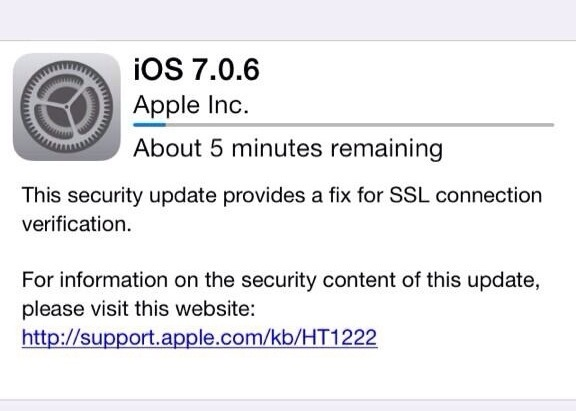 Apple releases iOS 7.0.6 and iOS 6.1.6, fixes SSL connection verification