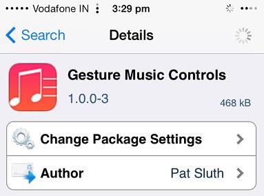 Gesture Music Controls