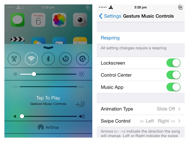 How to control Music with Gestures in iPhone
