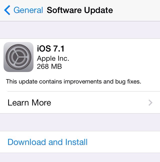 Apple releases iOS 7.1 with UI Tweaks, bug fixes and CarPlay Support