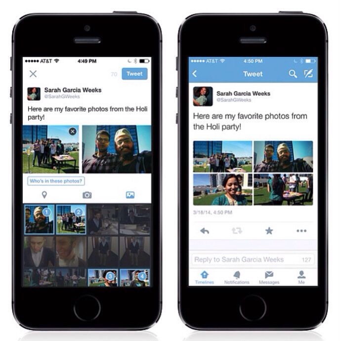 Twitter gets multiple photos and photo tagging feature
