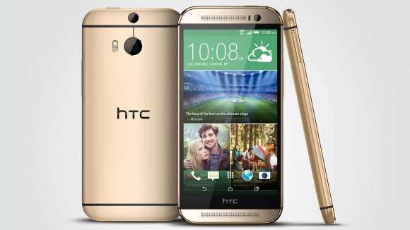 HTC One M8 gold color