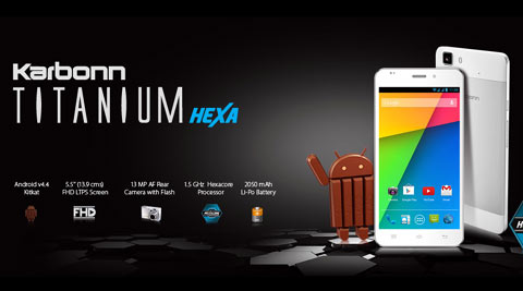Karbonn Titanium Hexa to go on sale from 20 May for Rs. 16,999 exclusively on Amazon