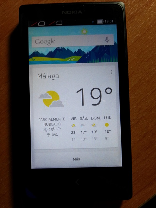 Nokia x google now installed