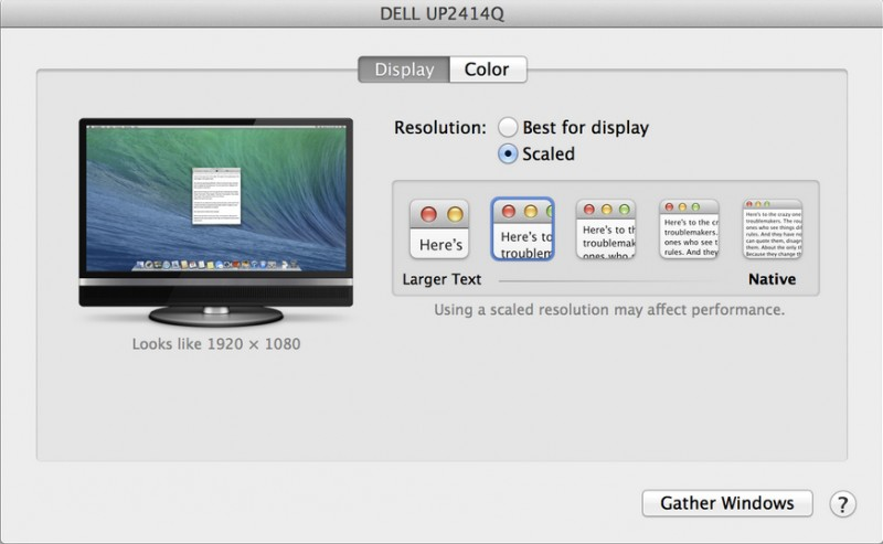 OS X 10.9.3 beta adds support for 'Retina' resolution option for 4K Display