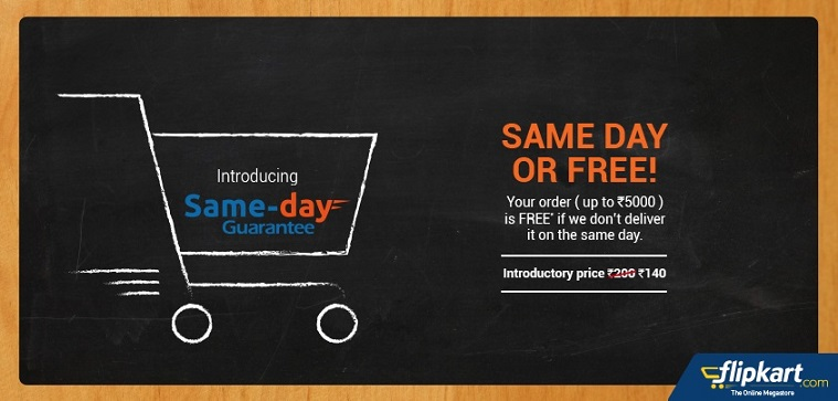 Flipkart launches 'Same Day Delivery' in 10 cities for Rs. 140