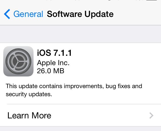 Apple releases iOS 7.1.1 with improved battery and Touch ID fixes
