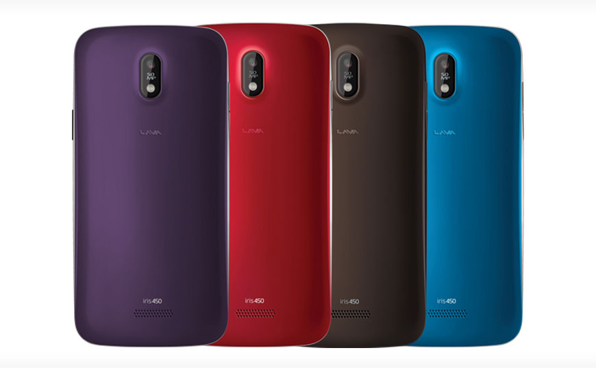 Lava Iris 450 Color with swappable covers launched in India for Rs. 7,999