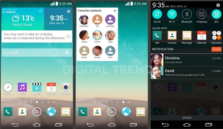 LG G3 Specs and screenshot leak suggests flatter UI and QHD Display