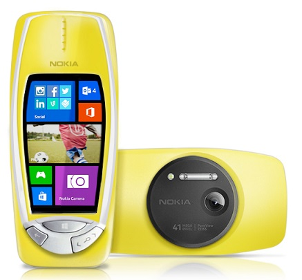 April Fool : Nokia 3310 with 41 Megapixel camera and windows phone 8 announced