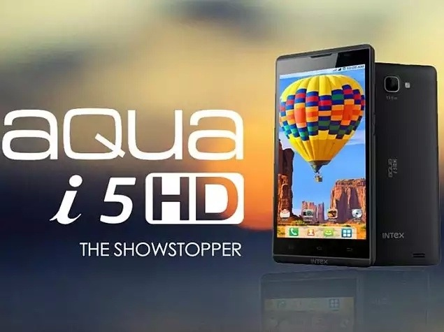Intex Aqua i5 HD with 5 inch HD launched in India for Rs. 9,990