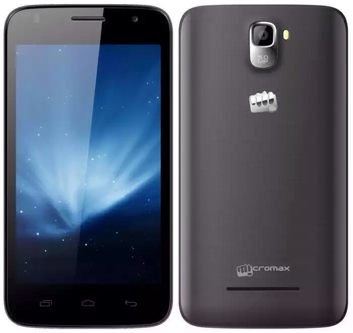 Micromax Canvas A105 with 5 inch screen appears online for Rs. 6,999