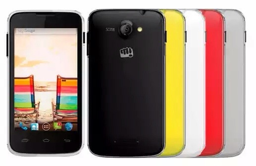 Micromax Unite A092 with 4 inch screen listed on company website