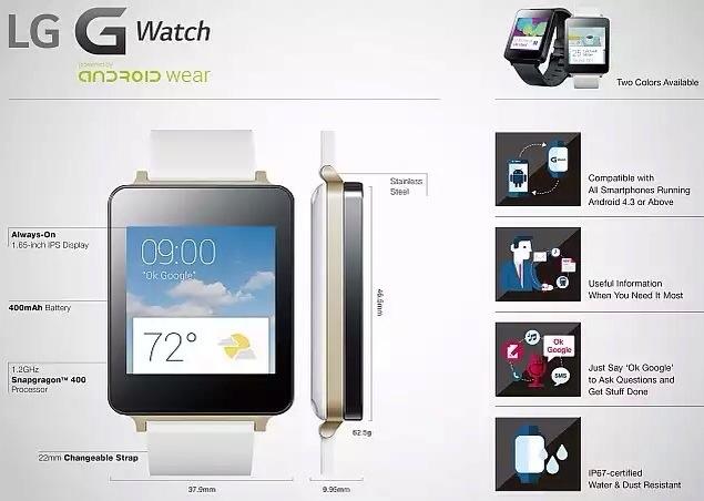LG G Watch smartwatch up for pre-order in India for Rs. 14,999