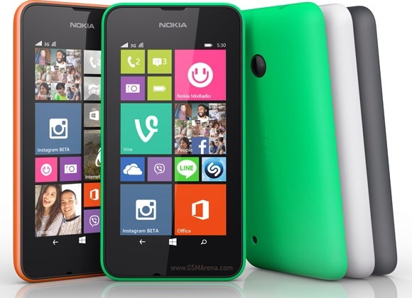 Nokia Lumia 530 and Nokia Lumia 530 Dual Sim with 4 inch screen announced