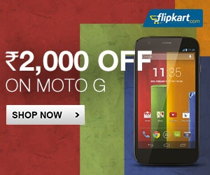 Flipkart offering flat Rs. 2,000 off on Moto G, to cost Rs. 10,499