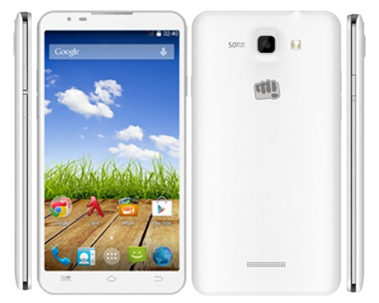 Micromax Canvas XL 2 A109 with 5.5 inch screen listed on company website