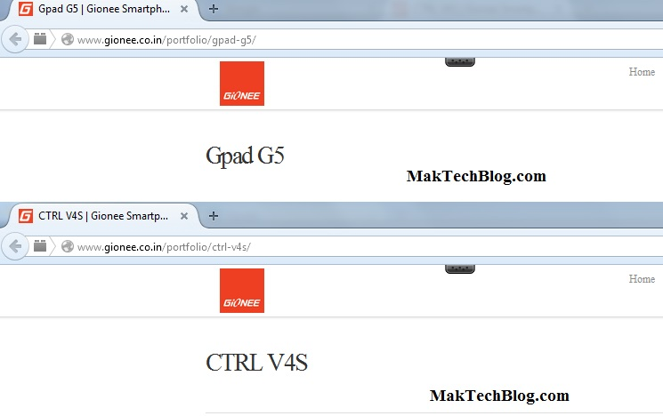 gionee Gpad G5 ctrl V4s