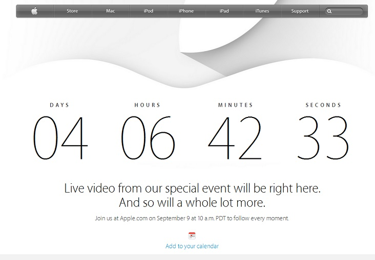 Apple to live stream September 9 iWatch and iPhone 6 event