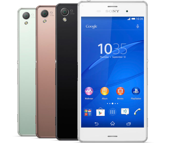 Sony Xperia Z3 with 5.2 inch screen announced in India for Rs. 51,990