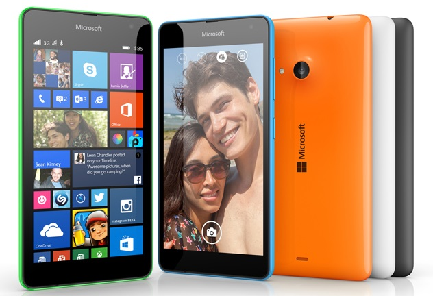Microsoft Lumia 535 with 5 inch screen, 5 MP cameras announced