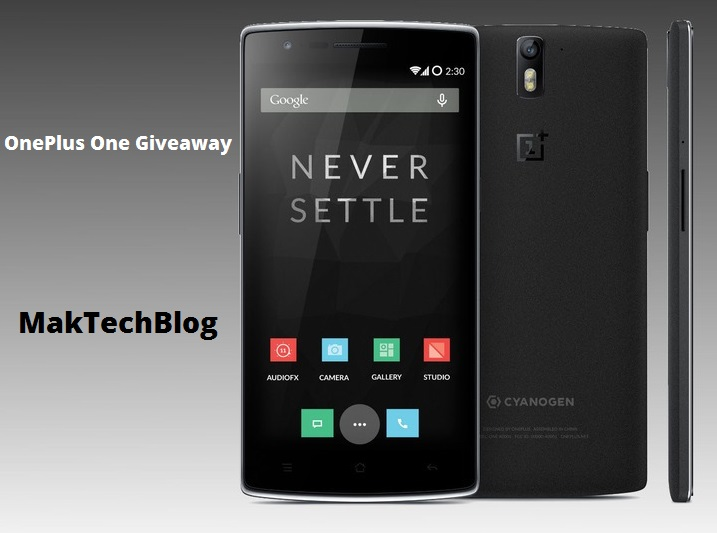 Giveaway : OnePlus One and Tunes Cleaner International Giveaway