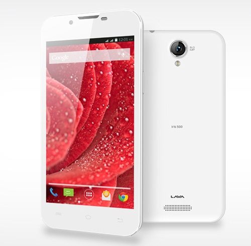 Lava Iris 500 with 5 inch screen listed on official website for Rs. 5,499
