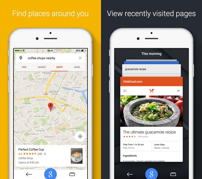 Google App for iOS updated with Material design, Maps, Hindi voice search and more