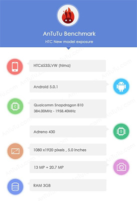 HTC One M9 HIMA Specs