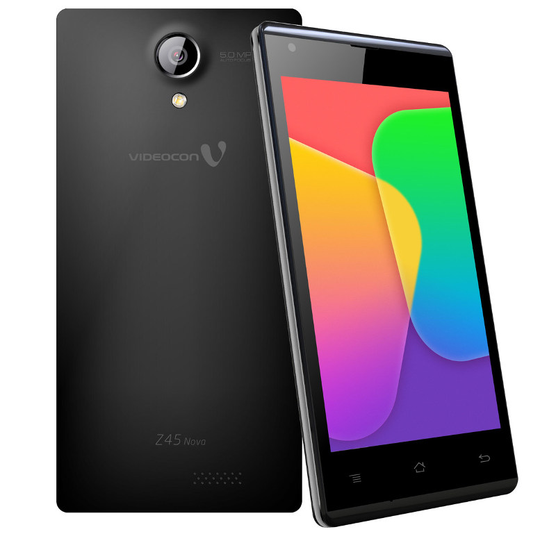 Videocon Infinium Z45 Nova with 4.5 inch screen launched for Rs. 4,999