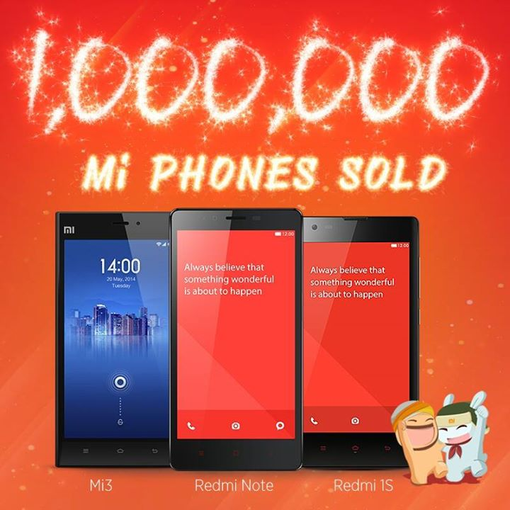 Xiaomi sold One Million Mi phones in India in five months