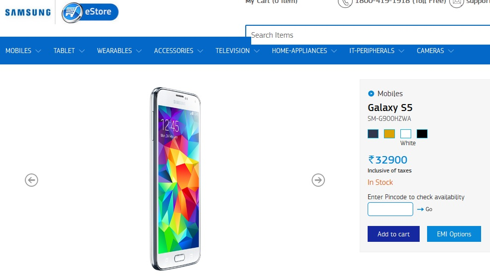 Ahead of Galaxy S6 announcement, Samsung Galaxy S5 price reduced to Rs. 32,900