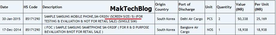 Samsung Galaxy S6 import