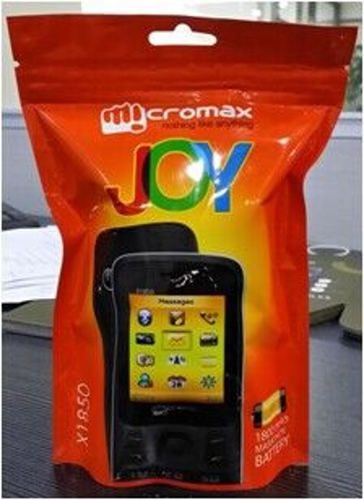Micromax Joy X1850 pouch packing