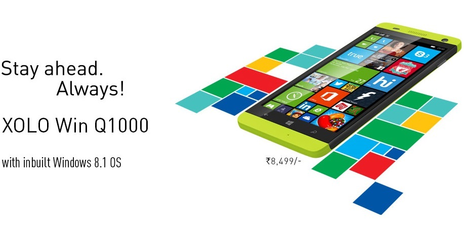 Xolo Win Q1000 running Windows 8.1 OS launched for Rs. 8,499