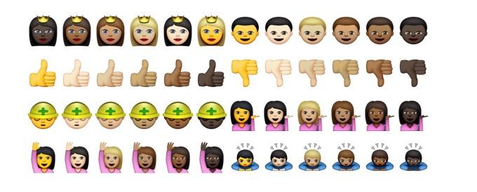 iOS 8.3 Diverse emoji