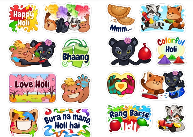 Image result for happy holi stickers