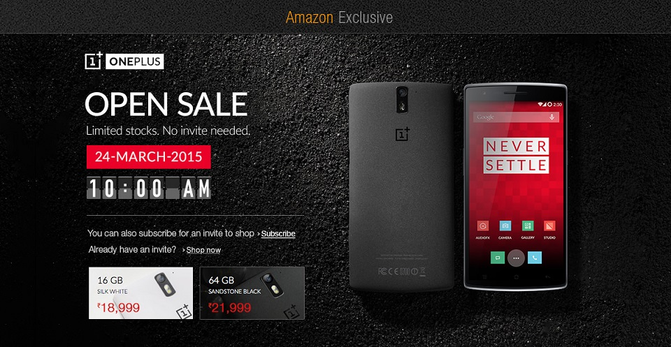 OnePlus One 16GB and 64GB to be available openly on 24 March in India