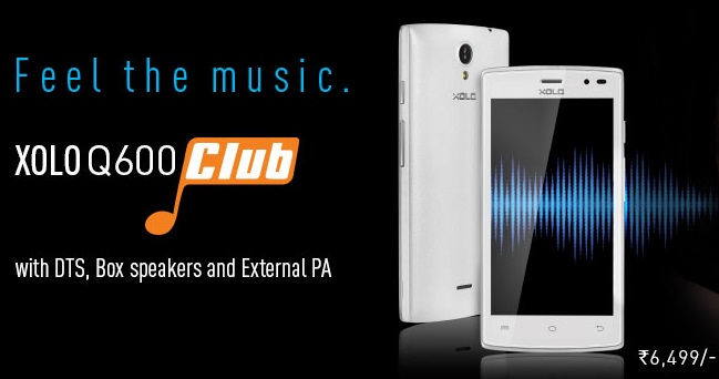 Xolo Q600 Club with DTS, Box Speakers launched for Rs. 6,499