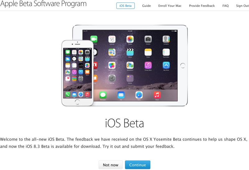 Apple releases Invite only Public beta of iOS 8.3 beta 3
