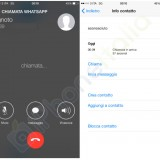 WhatsApp Voice Calling on iPhone screenshots appears online