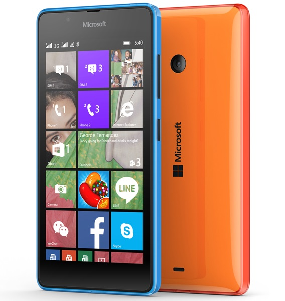 Microsoft Lumia 540 Dual sim with 8 MP camera launched in India for Rs. 10,199
