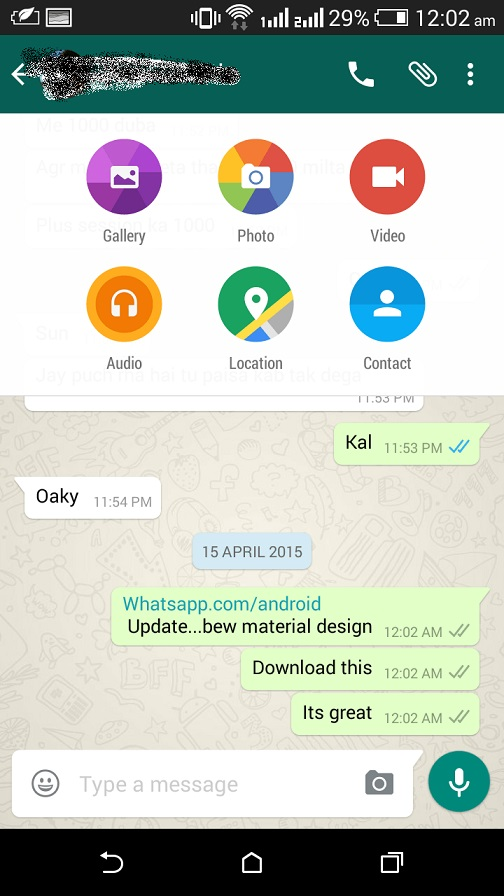 WhatsApp for Android gets Material Design makeover